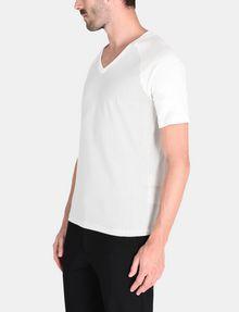 ARMANI EXCHANGE ALLOVER A|X PANELED RAGLAN V-NECK T-SHIRT S/S Knit Top Man d