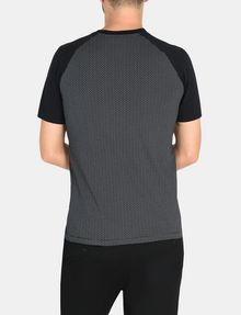 ARMANI EXCHANGE ALLOVER A|X PANELED RAGLAN V-NECK T-SHIRT S/S Knit Top Man r