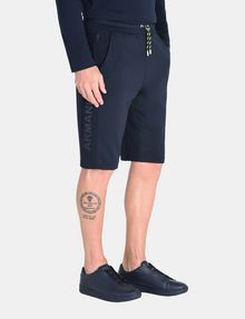 ARMANI EXCHANGE TONAL LOGO NEOPRENE SHORTS Fleece Short Man d