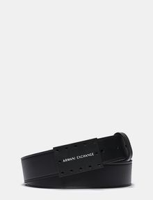 ARMANI EXCHANGE PERFORATED LOGO PLAQUE BELT Belt U f