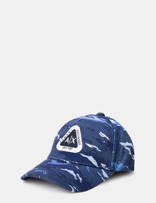 ARMANI EXCHANGE TRIANGLE LOGO CAMO HAT Hat E f