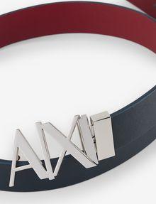 ARMANI EXCHANGE REVERSIBLE CUTOUT LOGO BELT Belt Man r