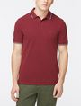 ARMANI EXCHANGE TIP COLLAR PIQUE POLO SHORT SLEEVES POLO Man f