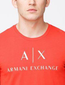 ARMANI EXCHANGE AX CREWNECK T-SHIRT Logo T-shirt Man e