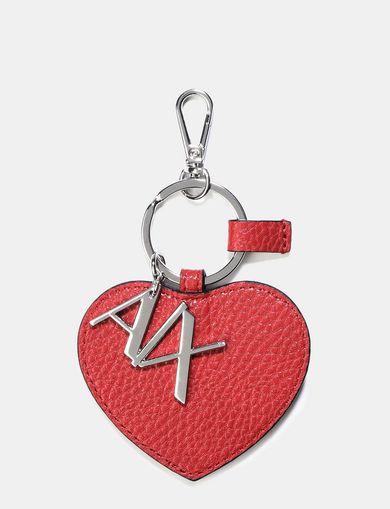 AX HEART KEYCHAIN