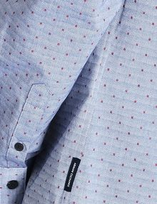 ARMANI EXCHANGE CONTRAST COLLAR OXFORD DOT SHIRT Long sleeve shirt Man e