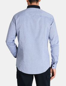 ARMANI EXCHANGE CONTRAST COLLAR OXFORD DOT SHIRT Long sleeve shirt Man r