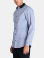 ARMANI EXCHANGE CONTRAST COLLAR OXFORD DOT SHIRT Long sleeve shirt Man d