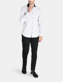 ARMANI EXCHANGE CONTRAST COLLAR OXFORD DOT SHIRT Long sleeve shirt Man a