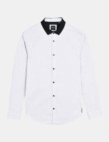 ARMANI EXCHANGE CONTRAST COLLAR OXFORD DOT SHIRT Long sleeve shirt Man b