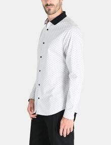 ARMANI EXCHANGE CONTRAST COLLAR OXFORD DOT SHIRT Long sleeve shirt Man d