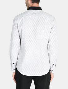 ARMANI EXCHANGE CONTRAST COLLAR OXFORD DOT SHIRT Long sleeve shirt Man r