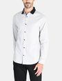 ARMANI EXCHANGE CONTRAST COLLAR OXFORD DOT SHIRT Long sleeve shirt Man f