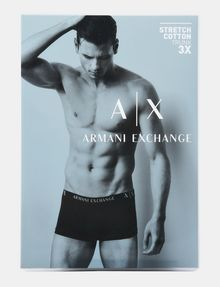 ARMANI EXCHANGE 3 PACK LOGO TRUNK Boxer Man a