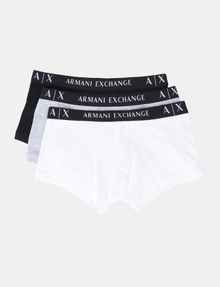 ARMANI EXCHANGE 3 PACK LOGO TRUNK Boxer Herren f
