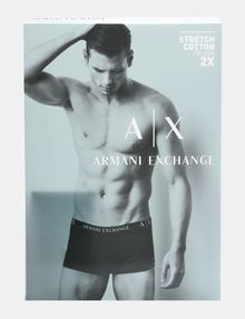 ARMANI EXCHANGE 2 PACK LOGO TRUNK Boxer Man a