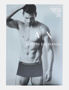 ARMANI EXCHANGE 2 PACK LOGO TRUNK Boxer Herren a