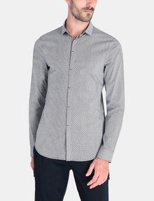 ARMANI EXCHANGE SLIM FIT FOULARD PRINT SHIRT Long sleeve shirt Man f