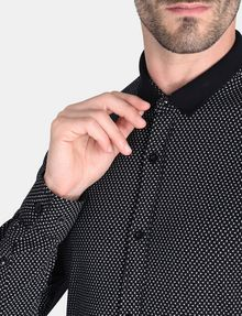 ARMANI EXCHANGE MINI A|X PRINT CONTRAST COLLAR SHIRT Long sleeve shirt Man e