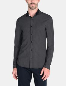 ARMANI EXCHANGE MINI A|X PRINT CONTRAST COLLAR SHIRT Long sleeve shirt Man f