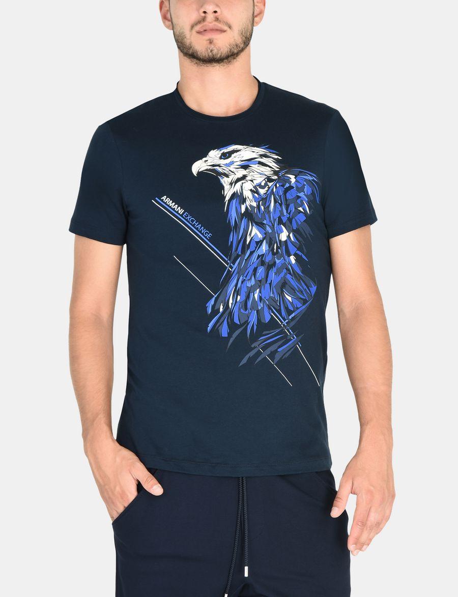 Designs contoh baju t shirt design baju berkolar shirt berkolar - Armani Exchange Eagle In The Wind Tee Man Front