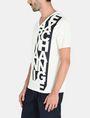 ARMANI EXCHANGE VERTICAL SIDE PRINT V-NECK T-SHIRT Logo T-shirt U d