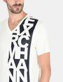 ARMANI EXCHANGE VERTICAL SIDE PRINT V-NECK T-SHIRT Logo T-shirt U e