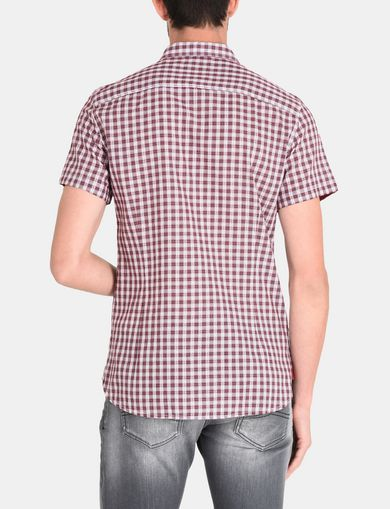 CONTRAST PLACKET SHORT SLEEVE SHIRT