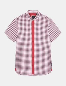 ARMANI EXCHANGE CONTRAST PLACKET SHORT SLEEVE SHIRT Short sleeve shirt Man b