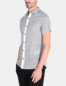 ARMANI EXCHANGE CONTRAST PLACKET SHORT SLEEVE SHIRT Short sleeve shirt Man d