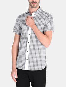 ARMANI EXCHANGE CONTRAST PLACKET SHORT SLEEVE SHIRT Short sleeve shirt Man f