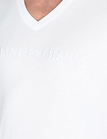 ARMANI EXCHANGE TONAL EMBROIDERY LOGO T-SHIRT Logo T-shirt Man e