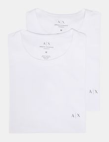 ARMANI EXCHANGE 2 PACK LOGO CREWNECK T-SHIRT Undershirt Man f