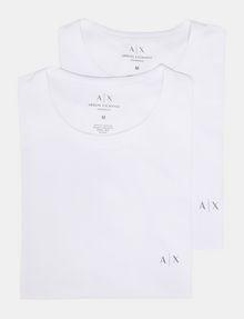 ARMANI EXCHANGE 2 PACK LOGO CREWNECK T-SHIRT Undershirt [*** pickupInStoreShippingNotGuaranteed_info ***] f