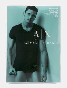ARMANI EXCHANGE 2 PACK LOGO V-NECK T-SHIRT Undershirt [*** pickupInStoreShippingNotGuaranteed_info ***] a