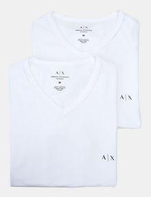 ARMANI EXCHANGE 2 PACK LOGO V-NECK T-SHIRT Undershirt [*** pickupInStoreShippingNotGuaranteed_info ***] f