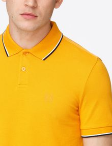 ARMANI EXCHANGE TIP COLLAR PIQUE POLO SHORT SLEEVES POLO Man e