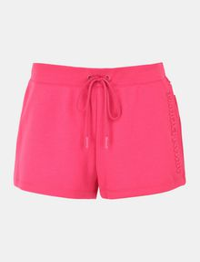 ARMANI EXCHANGE DEBOSSED LOGO SHORTS Fleece-Shorts Damen b