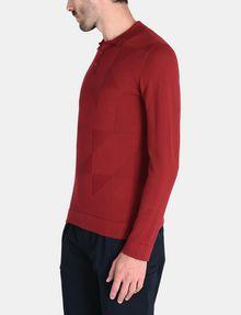 ARMANI EXCHANGE GEOMETRIC INTARSIA POLO SWEATER Pullover Man d