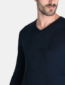 ARMANI EXCHANGE GEOMETRIC TEXTURED KNIT V-NECK SWEATER Pullover Man e