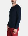 ARMANI EXCHANGE GEOMETRIC TEXTURED KNIT V-NECK SWEATER Pullover Man d