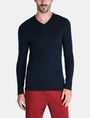 ARMANI EXCHANGE GEOMETRIC TEXTURED KNIT V-NECK SWEATER Pullover Man f