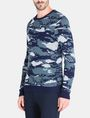 ARMANI EXCHANGE CAMO JACQUARD CREWNECK SWEATER Pullover Man d