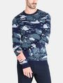 ARMANI EXCHANGE CAMO JACQUARD CREWNECK SWEATER Pullover Man f
