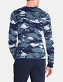 ARMANI EXCHANGE CAMO JACQUARD CREWNECK SWEATER Pullover Man r