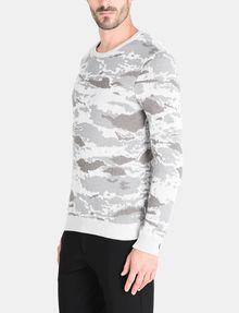 ARMANI EXCHANGE CAMO JACQUARD CREWNECK SWEATER Pullover Man d
