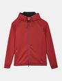 ARMANI EXCHANGE NEOPRENE TONAL LOGO HOODIE Fleece Jacket Man b