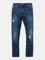 ARMANI EXCHANGE DROP-CROTCH DISTRESSED STRAIGHT FIT JEANS STRAIGHT FIT JEANS Man b