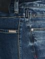 ARMANI EXCHANGE DROP-CROTCH DISTRESSED STRAIGHT FIT JEANS STRAIGHT FIT JEANS Man e