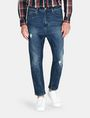 ARMANI EXCHANGE DROP-CROTCH DISTRESSED STRAIGHT FIT JEANS STRAIGHT FIT JEANS Man f